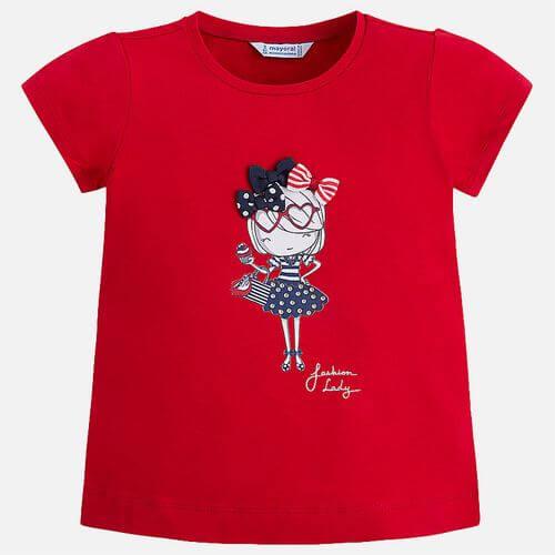 Maglietta a maniche corte per bambina Mayoral 3004