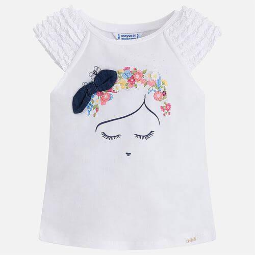 Maglietta con bretelle bambina Mayoral Art:3046