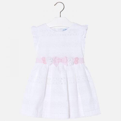 Vestito Mayoral traforato con cintura bambina