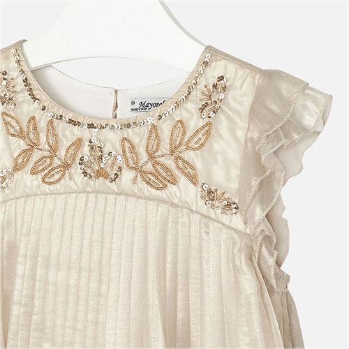 Vestito plissettato metallizza Art : 6919