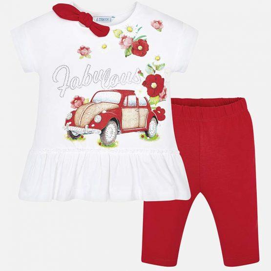 Completo maglietta e leggings bambina Art 3509