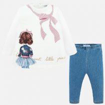 Completo maglietta e leggings bambolina Art 2740