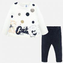 Completo leggings e maglietta gattini Art 2741