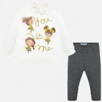 Completo leggings e maglietta bambolina bambina Art 2743