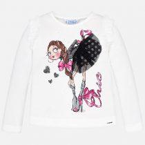 Maglietta disegno volant bambina Art 4007
