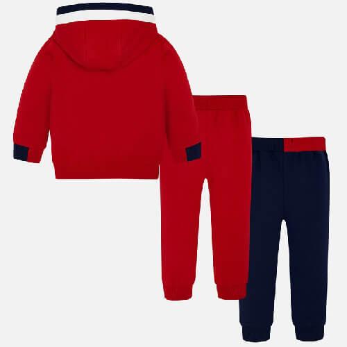 Tuta tre pezzi per bambino costituita da una felpa e due pantaloni sportivi