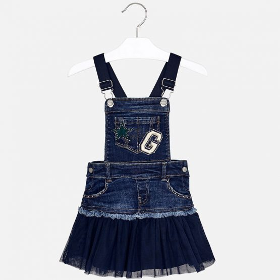 Gonna salopette jeans bambina Art 4913