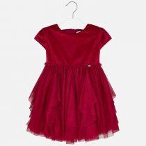 Vestito combinato con tulle asimmetrico Art 4924