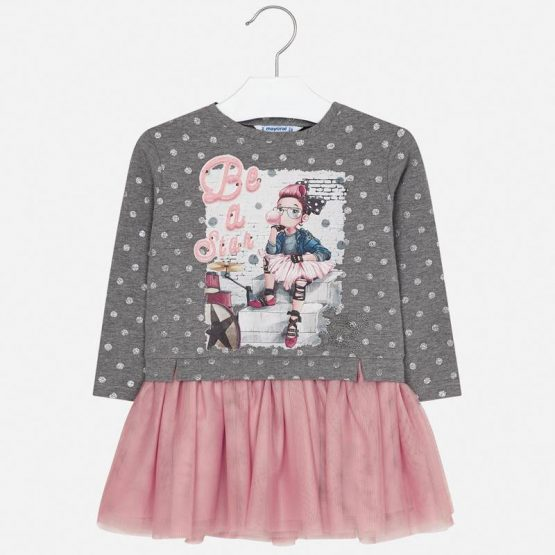 Vestito combinato con tulle bambina Art 4945