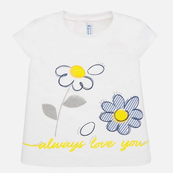 Maglietta manica corta fiori