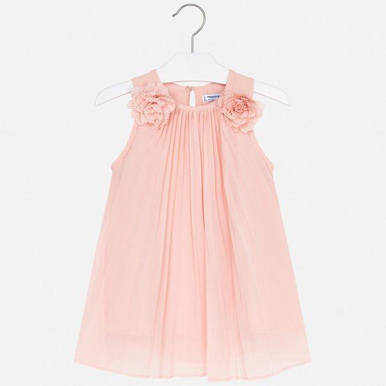 Vestito plissettato fiori bambina