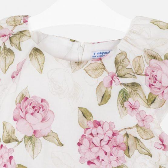 Vestito stampato fiori ragazza